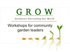Cover photo for NC Community Garden Leaders Regional GROW Workshops