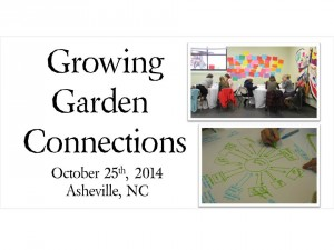 Cover photo for NC Community Garden Conference Oct 25th