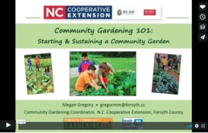 Title Screen from Community Gardening Video